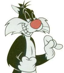 кот с красным носом
