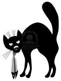 кот и рыбий скелет